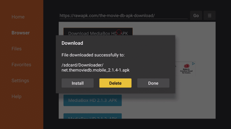 Install MediaBox HD APK on Firestick
