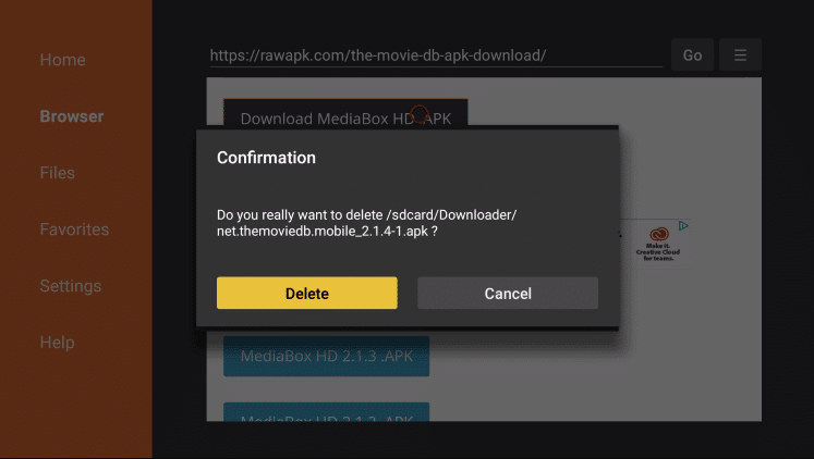 Install MediaBox HD App on Firestick